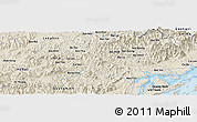 Shaded Relief Panoramic Map of Bản Mọi