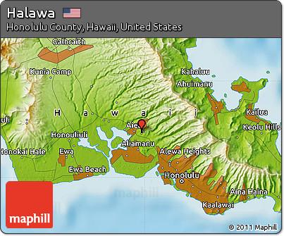 Physical Map Of Halawa Physical Map Of Halawa