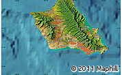 Satellite Map of Haleiwa