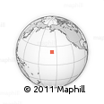 Outline Map of Palehua, rectangular outline
