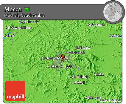 Free Political 3D Map of Mecca