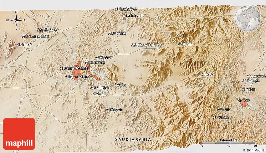 Satellite 3D Map of Mecca