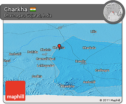 Free Political Panoramic Map of Charkha