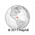 """Outline Map of the Area around 21° 23' 18"""" N, 73° 52' 30"""" W, rectangular outline"""