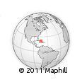 """Outline Map of the Area around 21° 23' 18"""" N, 74° 43' 29"""" W, rectangular outline"""