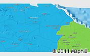 Political 3D Map of Minas