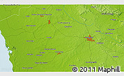 """Physical 3D Map of the area around 21°23'18""""N,78°7'30""""W"""