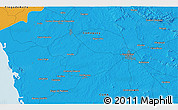 """Political 3D Map of the area around 21°23'18""""N,78°7'30""""W"""