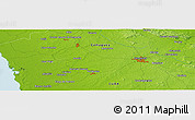 Physical Panoramic Map of Santa Gertrudis