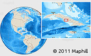 """Shaded Relief Location Map of the area around 21°23'18""""N,78°58'29""""W"""