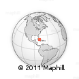 """Outline Map of the Area around 21° 23' 18"""" N, 78° 58' 29"""" W, rectangular outline"""