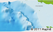 """Physical 3D Map of the area around 21°23'18""""N,79°49'29""""W"""