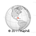 """Outline Map of the Area around 21° 23' 18"""" N, 80° 40' 30"""" W, rectangular outline"""