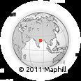 Outline Map of Bargarh, rectangular outline
