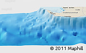 Shaded Relief Panoramic Map of Maceo