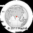Outline Map of Sambalpur, rectangular outline