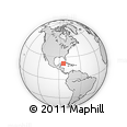 """Outline Map of the Area around 21° 23' 18"""" N, 84° 4' 29"""" W, rectangular outline"""