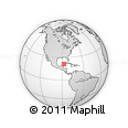 Outline Map of Isla Holbox, rectangular outline