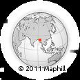 Outline Map of Zidawau, rectangular outline