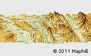 Physical Panoramic Map of Möng Ping