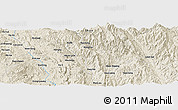 Shaded Relief Panoramic Map of Möng Pu-awn