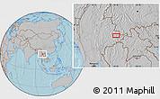 Gray Location Map of Ta-lu, hill shading