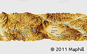 Physical Panoramic Map of Nawngkeng