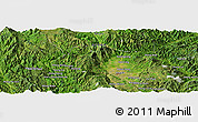 Satellite Panoramic Map of Wān Hathai