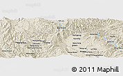 Shaded Relief Panoramic Map of Ta-lu