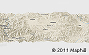 Shaded Relief Panoramic Map of Wān Himmang