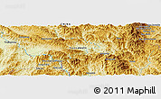 Physical Panoramic Map of Wān Ra-sa-hkamhkam