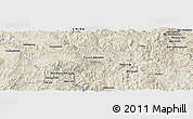 Shaded Relief Panoramic Map of Möng Un