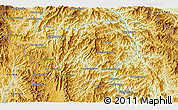 """Physical 3D Map of the area around 21°53'23""""N,102°4'29""""E"""