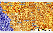"""Political 3D Map of the area around 21°53'23""""N,102°4'29""""E"""