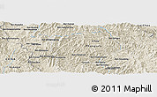 Shaded Relief Panoramic Map of Ban Loa