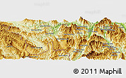 Physical Panoramic Map of Lai Châu
