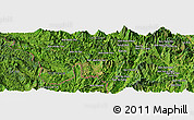 Satellite Panoramic Map of Bản Sa