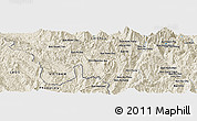 Shaded Relief Panoramic Map of Bản Sa