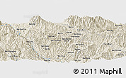 Shaded Relief Panoramic Map of Bản Chung Ban