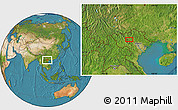 """Satellite Location Map of the area around 21°53'23""""N,104°37'30""""E"""