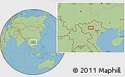 "Savanna Style Location Map of the area around 21°53'23""N,104°37'30""E"