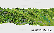 Satellite Panoramic Map of Yên Bái