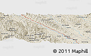 Shaded Relief Panoramic Map of Yên Bái