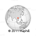 Outline Map of Bản Dzung, rectangular outline