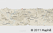 Shaded Relief Panoramic Map of Bản Dzung