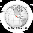 Outline Map of El Tamarindo, rectangular outline