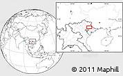 Blank Location Map of Lạng Sơn