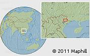 Savanna Style Location Map of Lạng Sơn, hill shading