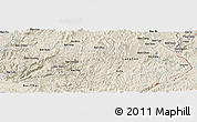 Shaded Relief Panoramic Map of Bản Dioi