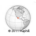 Outline Map of Parque Nacional Isla Isabel, rectangular outline